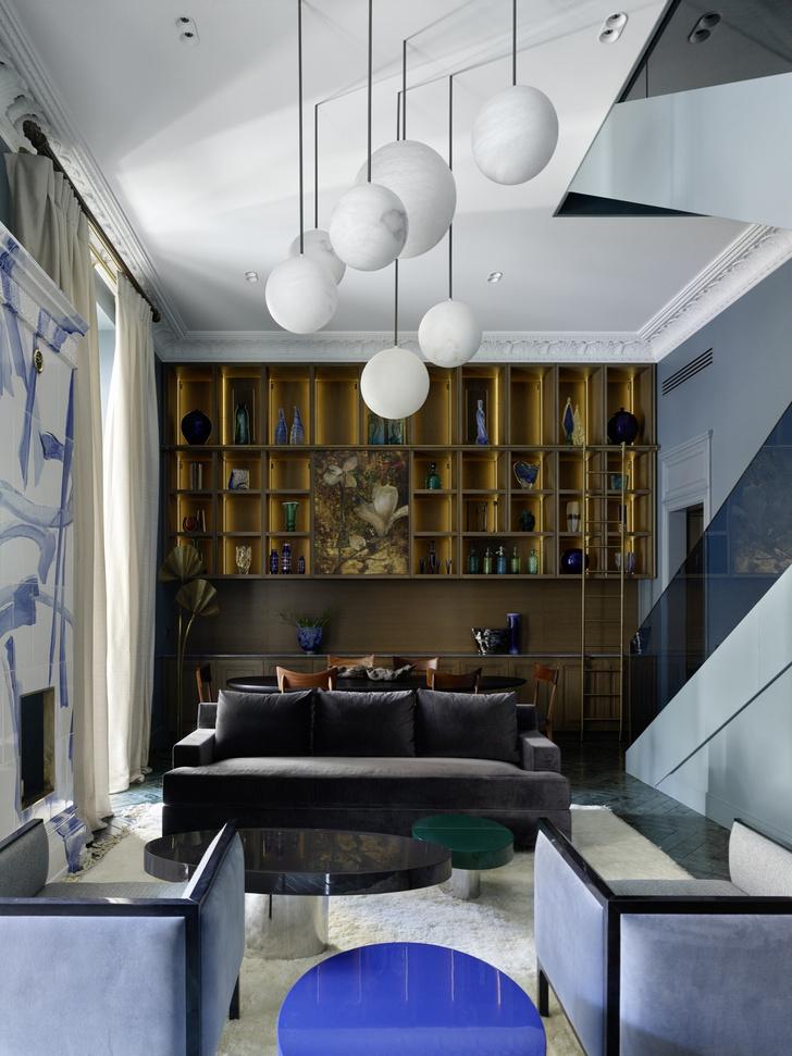 Фото №2 - Двухэтажная квартира «на Патриках»: проект Аллы Шумейко