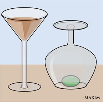 Фото №1 - Элементарный фокус с бокалом и оливкой