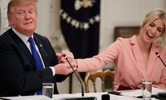 Портновское искусство: Иванка Трамп в розовом костюме-кимоно с бархатным бантом