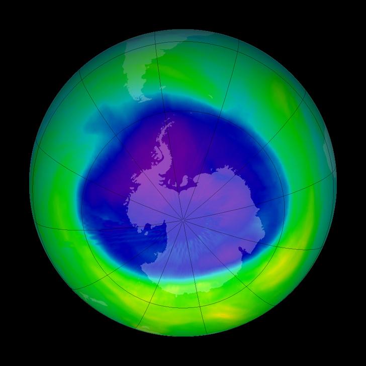 Фото №1 - Площадь озоновой дыры сократилась до рекордных показателей