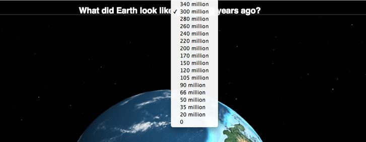 Фото №2 - Интерактивный глобус, который покажет, где находился бы твой город 750 миллионов лет назад