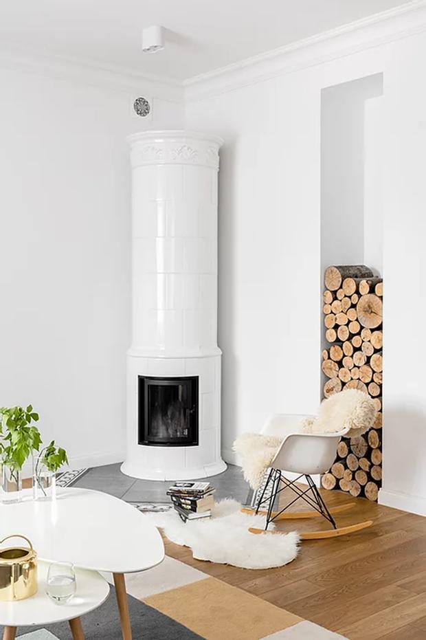 Фото №4 - Уютная квартира с изразцовой печью в Варшаве