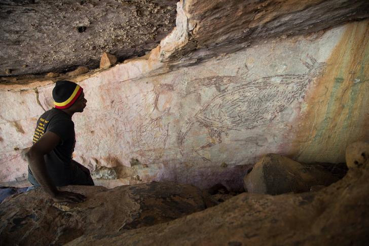 Фото №1 - Как выглядит самое древнее наскальное изображение кенгуру