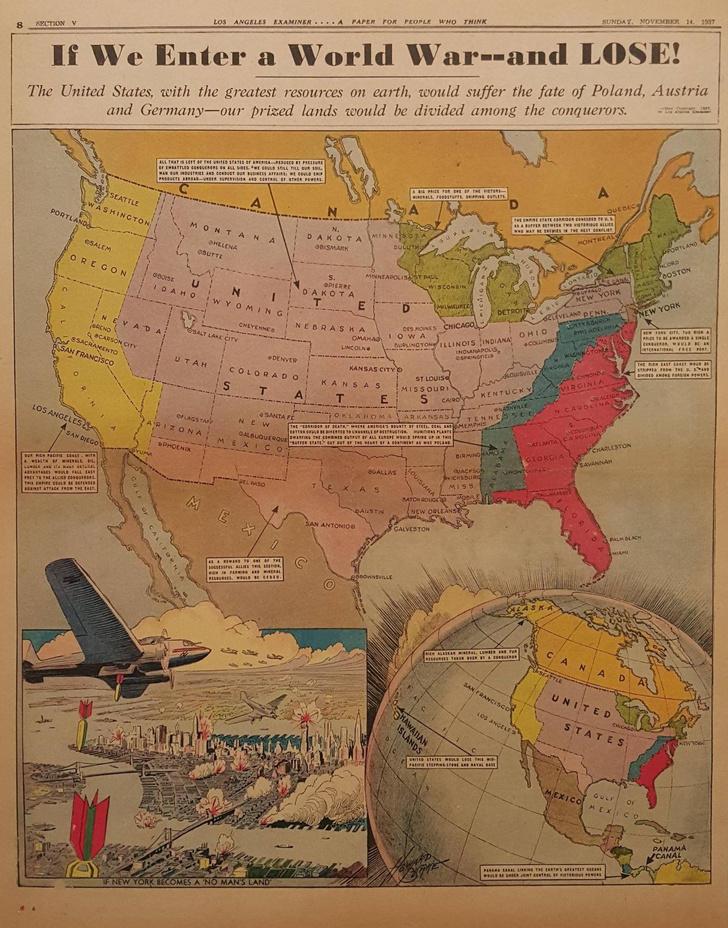 Фото №2 - Карты: Как западные страны, противники Германии, представляли себе ее победу в войне