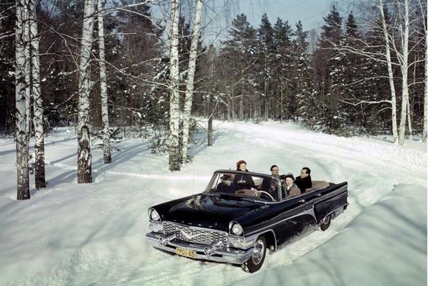 Русская зима и кабриолет созданы друг для друга