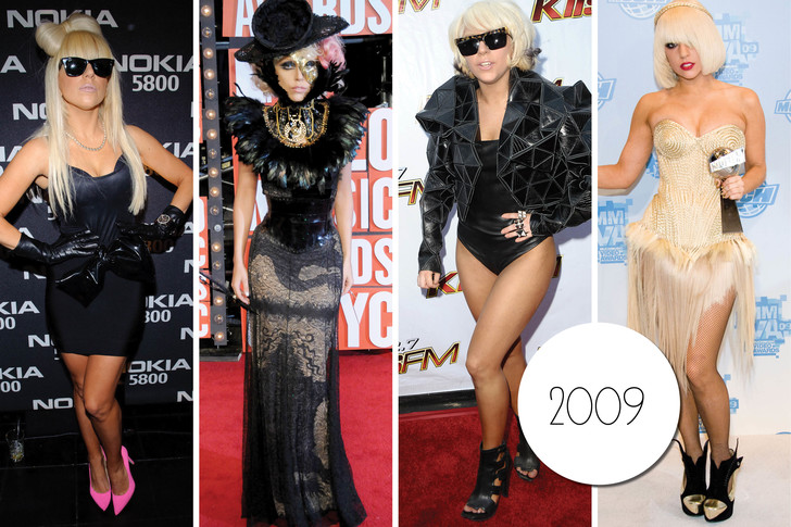 Эволюция стиля Леди Гаги: 2009 год