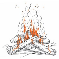 Фото №1 - Почему дрова в огне трещат?