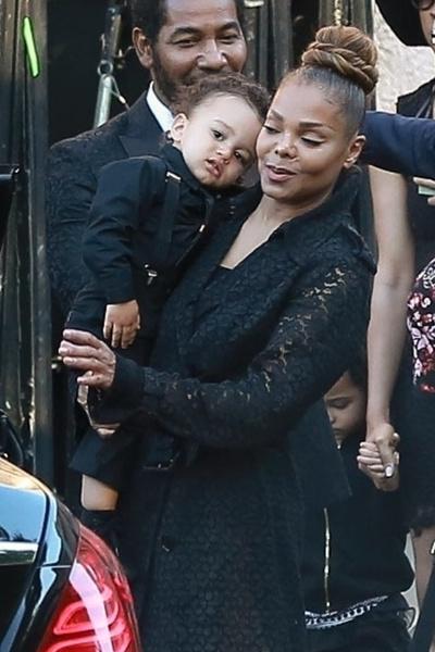 Джанет Джексон с сыном