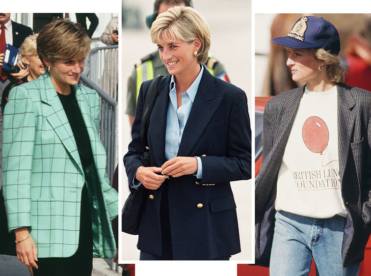 Фото №1 - Королевский кэжуал: как Диана носила объемные пиджаки