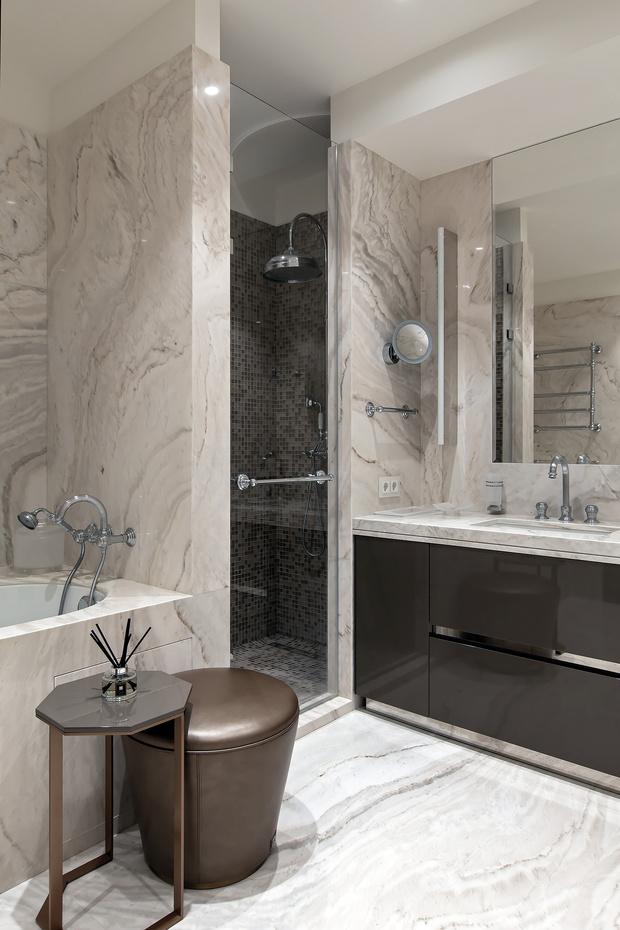Фото №12 - Белый плюс ваниль: московская квартира 145 м²