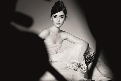 Фото №1 - Лили Коллинз в образе балерины для Lancôme