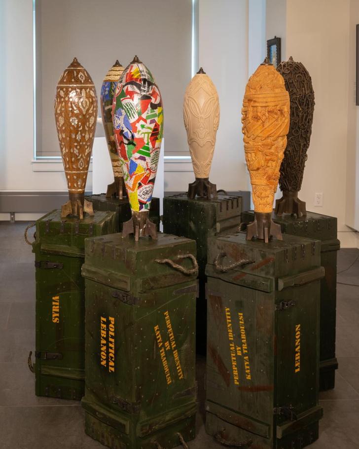 Фото №3 - Художник Катя Трабулси и ее арт-объекты в виде снарядов
