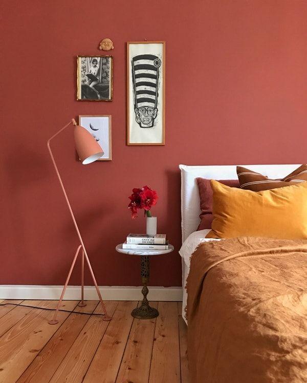 Фото №1 - Тренд: терракотовый цвет в спальне