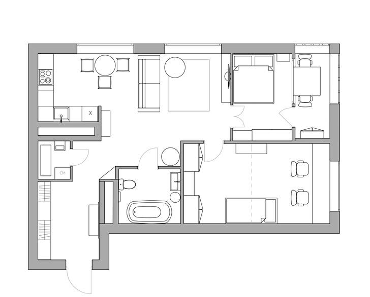 Фото №14 - Квартира в скандинавском стиле с печью