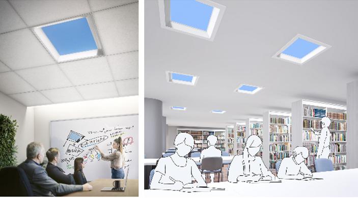 Фото №1 - Особенности японского офиса: кусочки голубого неба в потолочной плитке