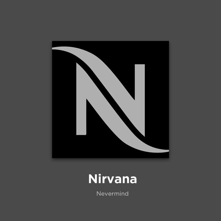 Фото №2 - 27 альбомов поп- и рок-звезд в виде известных логотипов