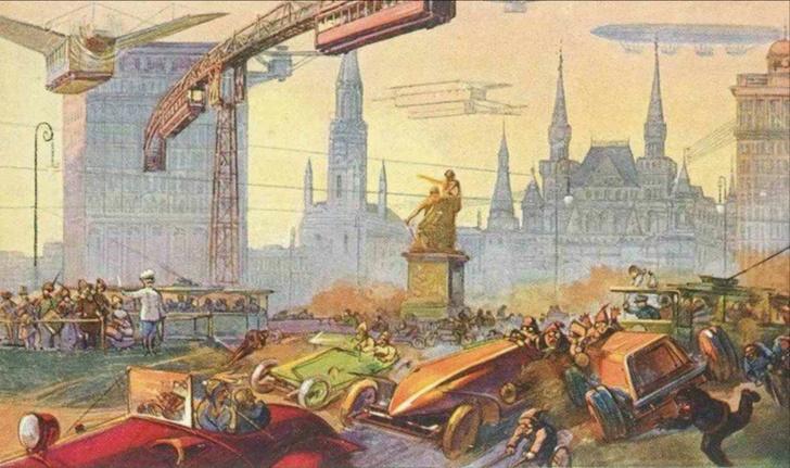 Фото №7 - Как представляли Москву будущего в 1914 году
