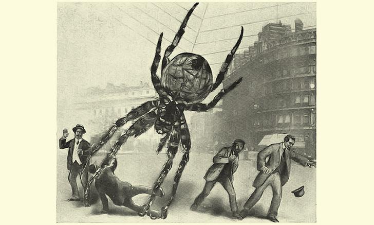 Фото №1 - Как англичане представляли атаку гигантских насекомых сто лет назад