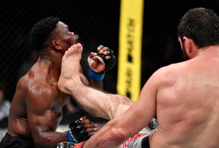Фото №1 - Самый эффектный нокаут UFC Moscow: российский боец победил с помощью убойного фронт-кика (видео)