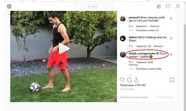 Фото №2 - Ибрагимович запустил «Матрица»-челлендж и бросил вызов Нурмагомедову (видео)