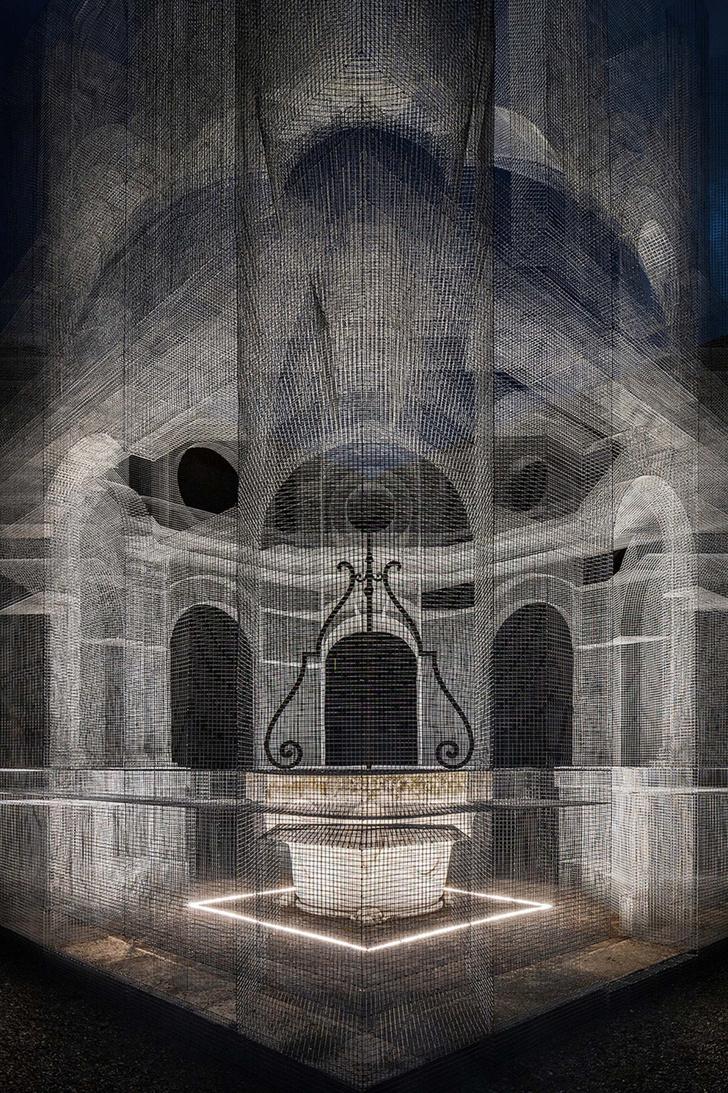 Фото №4 - Эфемерная инсталляция из проволочной сетки в Равенне