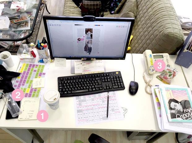 Фото №1 - Кукла вуду, наушники и еда: что на рабочих столах у редакции Elle Girl