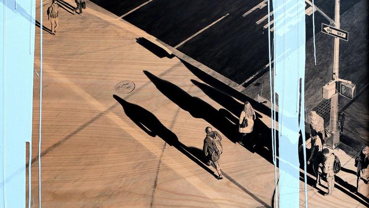 Фото №1 - Француз рисует фотореалистичные городские пейзажи на деревянных дощечках (галерея)