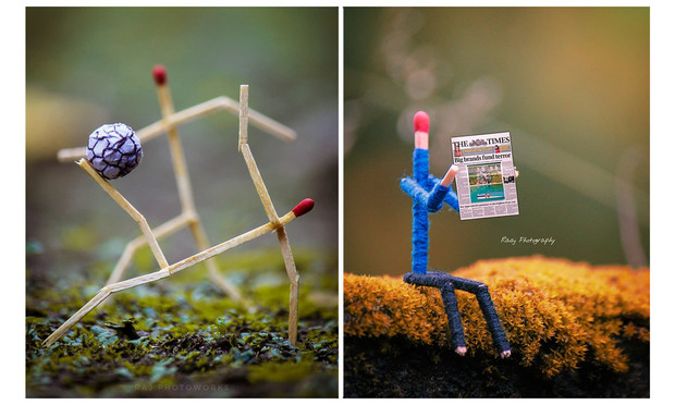 Фото №1 - Тайная жизнь спичек: почти человеческие мини-миры Раджа Дея