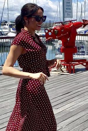 Фото №87 - Все наряды первого зарубежного тура Меган Маркл в Австралию и Новую Зеландию