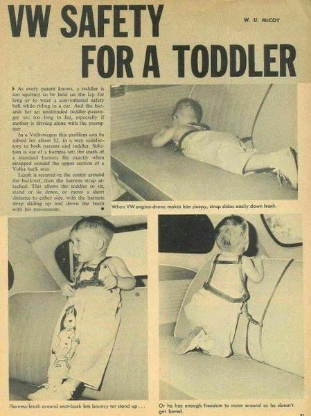 Фото №4 - «Дорогая, я пристегнул детей!»: какими были детские кресла полвека назад (12 странных приспособлений)