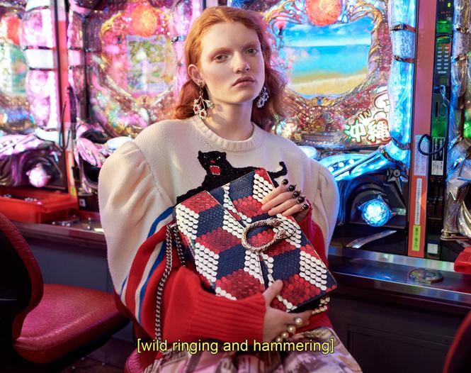 Фото №1 - Японское приключение Петры Коллинс и Ко: новая кампания Gucci