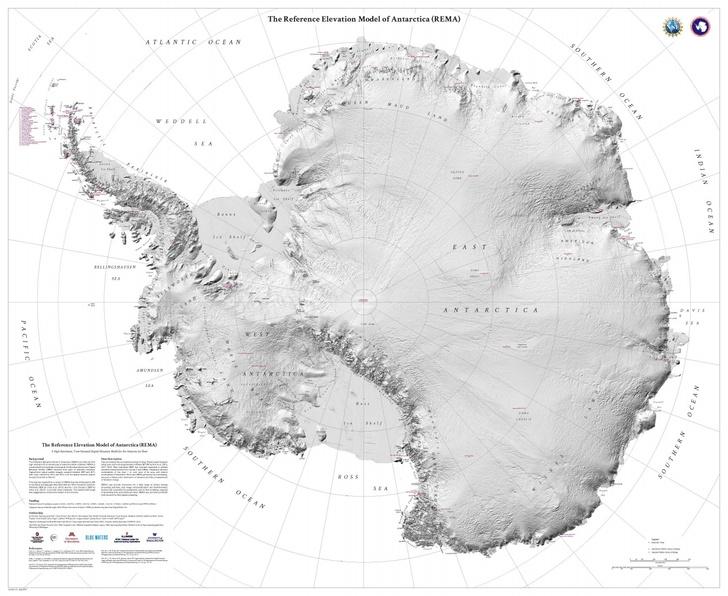Фото №1 - Создана самая подробная карта Антарктиды