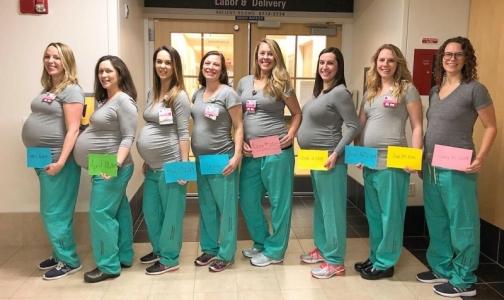 Фото №1 - В американском роддоме одновременно забеременели 9 медсестер