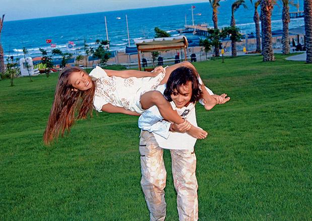 Александр Маленков с дочкой
