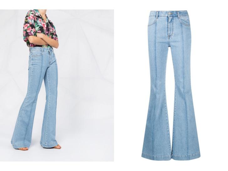 Фото №5 - Голубые джинсы— самая главная покупка лета. Рассказываем, на какие модели обратить внимание