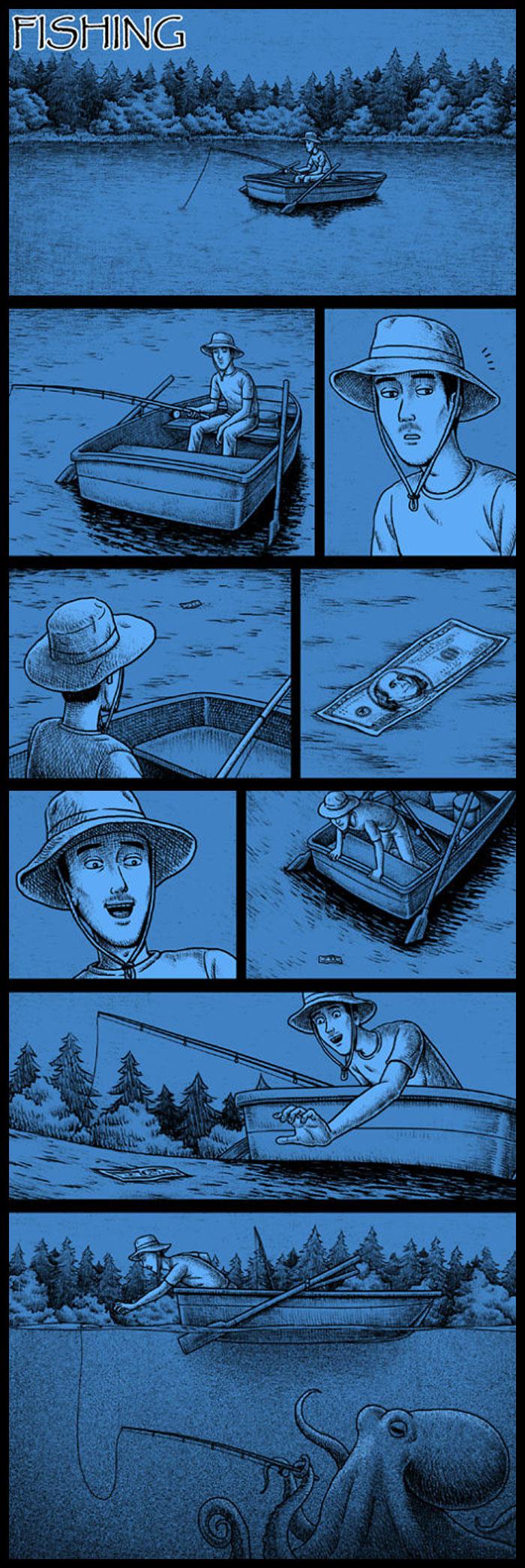 Фото №2 - 30 комиксов с отборным черным юмором от Бена Чена