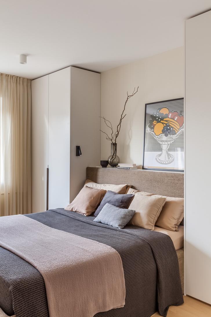 Фото №10 - Светлая квартира 64 м² с золотыми акцентами