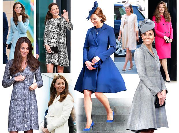 Фото №1 - В модном положении: две беременности герцогини Кембриджской (сравним?)