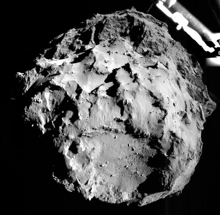 Фото №1 - На комете зафиксирован оползень
