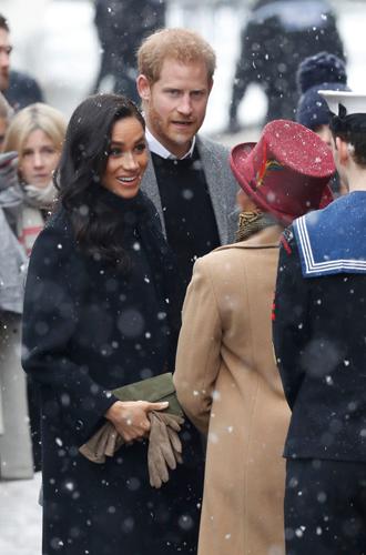 Фото №6 - Снега не боятся: Гарри и Меган прибыли в Бристоль