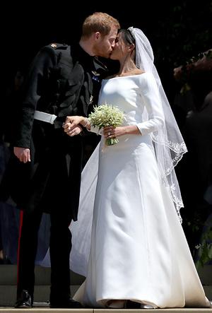 Фото №8 - От Одри Хепберн до Меган Маркл: знаменитые невесты в платьях Givenchy