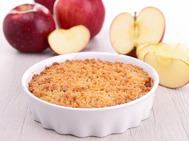 Фото №4 - Рецепты осени: яблочный крамбл