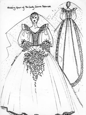 Эскиз платья Дианы.