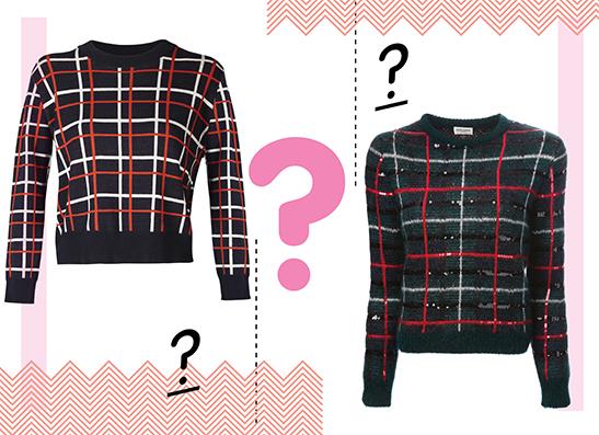 Фото №1 - Дорого-дешево: Пуловер в клетку
