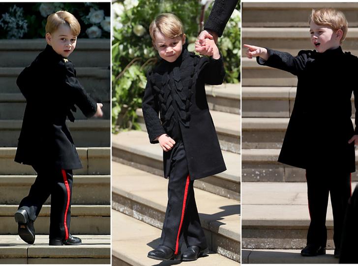 Фото №1 - Принц Джордж проявил характер на королевской свадьбе