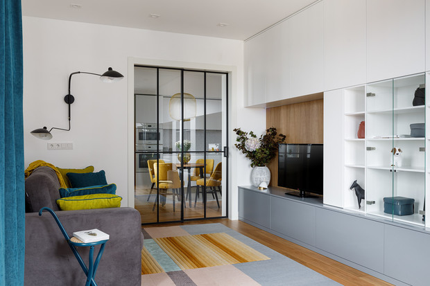 Фото №6 - Квартира молодой девушки в стиле mid-century modern 68 м²