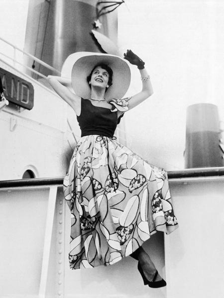 Модный летний образ, 1949 год.