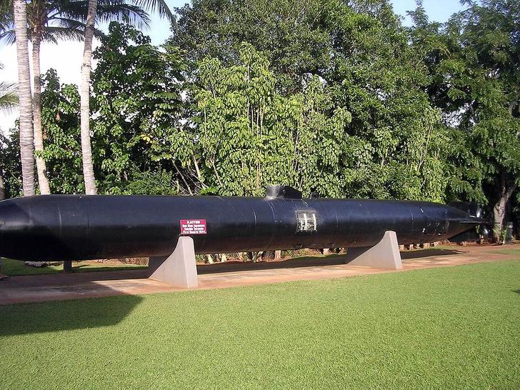 Японская трофейная торпеда смертника Kaiten в гавайском музее