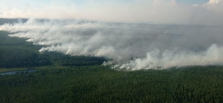 Фото №1 - Якутия в огне лесных пожаров