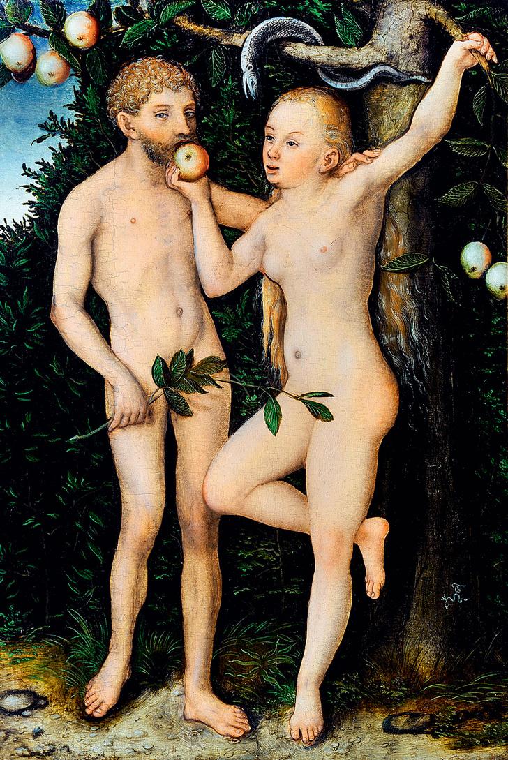 Фото №10 - Галерея: как изображали Адама и Еву последние  2000 лет